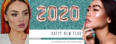 2020 Les tendances, fond paillette vert deux femmes l'une en face de l'autre