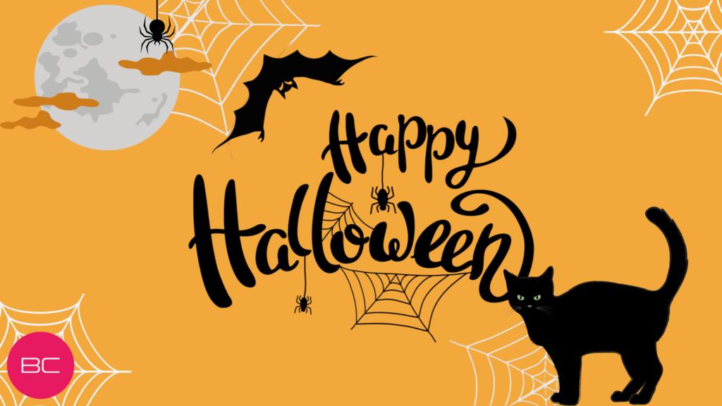 Affiche pour halloween, cliquez sur l'image pour accéder à la boutique halloween de Beauty Coiffure.