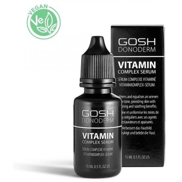 Sérum complexe vitaminé Donoderm GOSH 15ML. À retrouver sur beautycoiffure.com