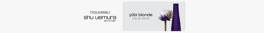 Gamme soin cheveux Shu Uemura yūbi blonde sur beautycoiffure.com