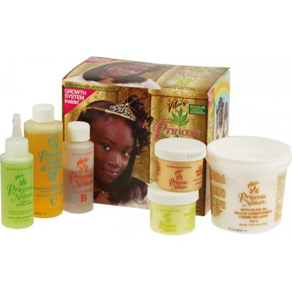 Kit défriz junior Regular de Vitale Olive Oil. Pour défriser les cheveux de vos enfants en douceur. A retrouver sur beautycoiffure.com