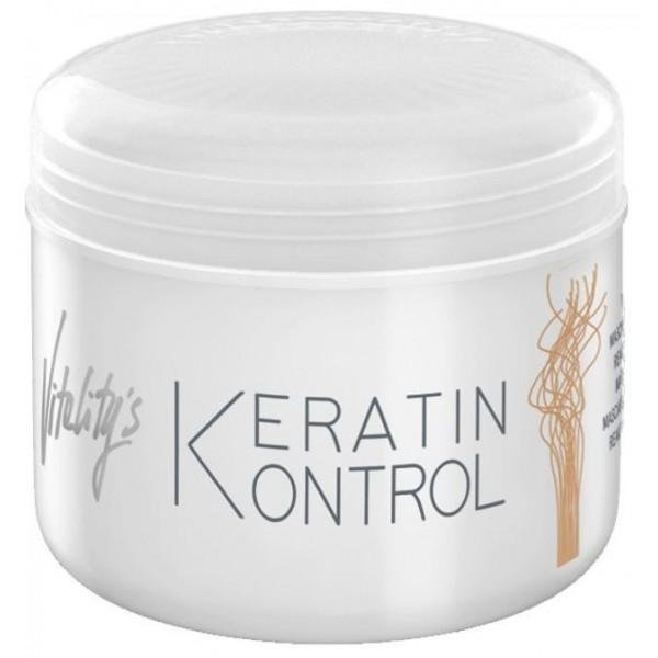 Masque ravivant Keratin Kontrol Vitality's. À retrouver sur beautycoiffure.com.