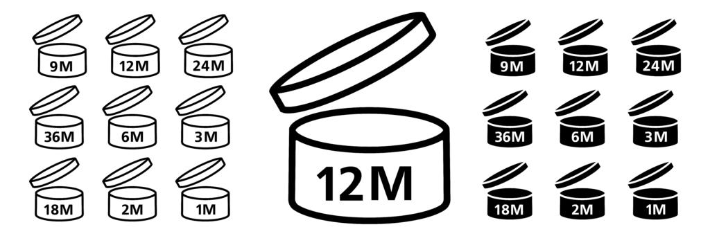 Explication en illustration des dates de péremption pour les produits de beauté. PAO, produit après ouverture.
