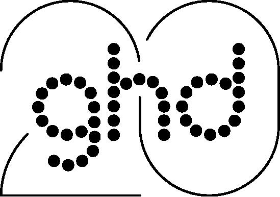 Nouveau logo de ghd à l'occasion de son 20ème anniversaire.