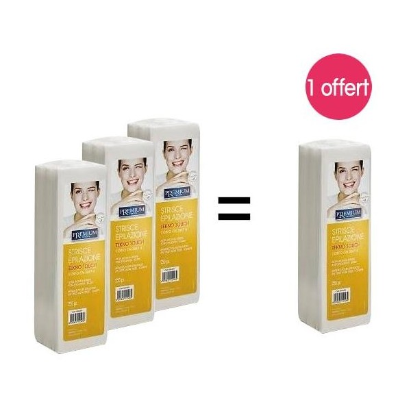 Pack 4 paquets Bandes pour épilation X 250 Non tissées 1 offert, à retrouver sur beautycoiffure.com