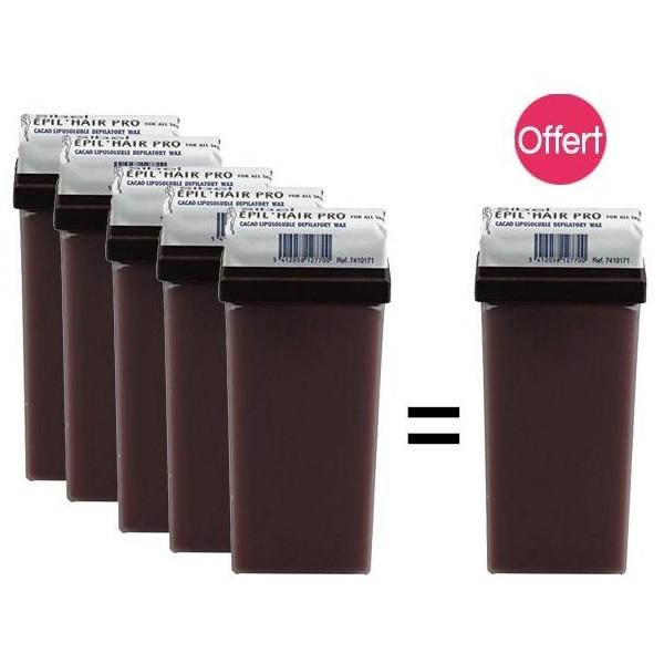 Pack 6 Cartouches Cire à épiler Chocolat 1 Offerte, à retrouver sur beautycoiffure.com