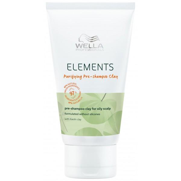 Le pré-shampooing purifiant de la gamme Elements de Wella, à retrouver sur beautycoiffure.com