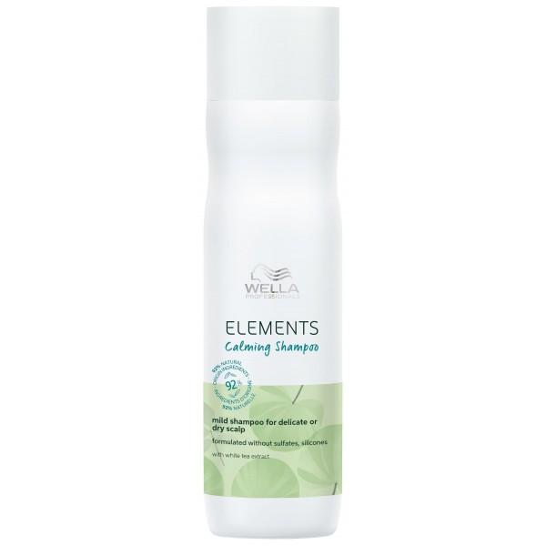 Shampooing doux Calming de la gamme Elements de Wella, à retrouver sur beautycoiffure.com