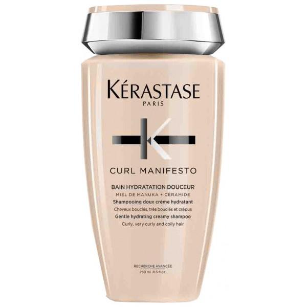 Le shampoing crémeux Curl Manifesto de Kérastase est un soin hydratant pour les cheveux bouclés, frisés, ondulés et crépus. À retrouver sur beautycoiffure.com.
