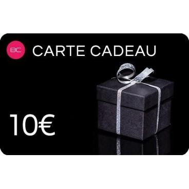 Carte Cadeau à offrir d'une valeur de 10 euros à 200 euros. À retrouver sur beautycoiffure.com.