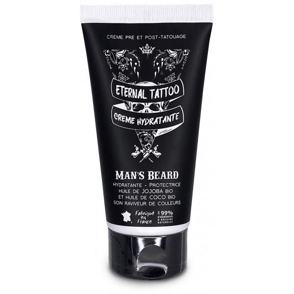 Découvrez la crème hydratante conçue pour protéger les tatouages Eternal Tattoo de Man's Beard sur beautycoiffure.com