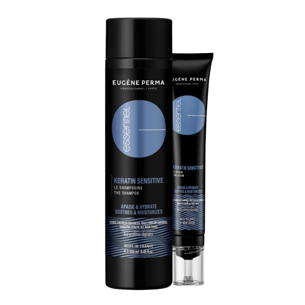 Découvrez la gamme Essentiel Keratin Sensitive de Eugène Perma, sur beautycoiffure.com.