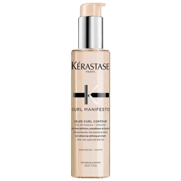 Le gel-crème embellisseur Curl Manifesto de Kérastase, assure une meilleure définition des boucles. À retrouver sur beautycoiffure.com.