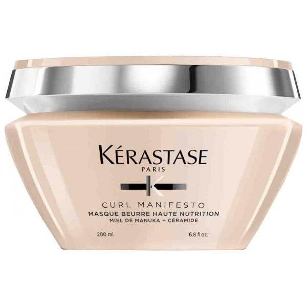 Le masque cheveux Curl Manifesto de Kérastase est un masque extra-riche et très nutritif formulé à base de Miel de Manuka et de Céramide, répondant aux besoins des cheveux frisés et crépus. À retrouver sur beautycoiffure.com.