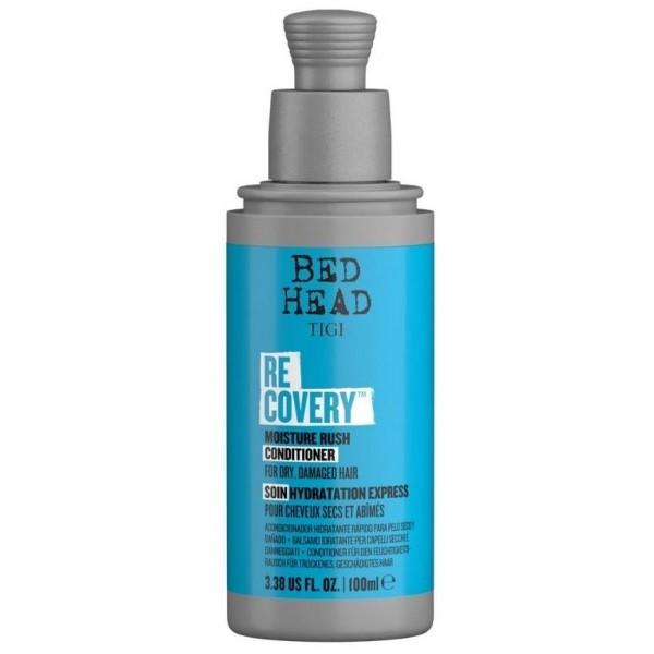 Conditionner hydratant Recovery Bed Head de Tigi, en format 100 ml, à retrouver sur beautycoiffure.com.