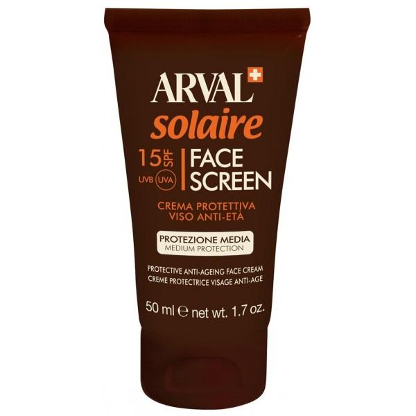 Découvrez la crème Protectrice Visage Anti-Age SPF15  de Arval pour protégrer son visage du soleil, à retrouver sur beautycoiffure.com.