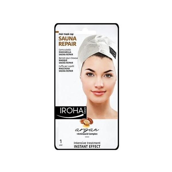 Masque cheveux argan IROHA, à retrouver sur beautycoiffure.com.