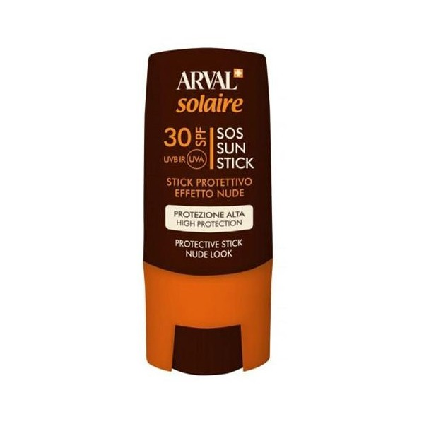 SOS Sun Stick, en format 9 ml d'Arval, à retrouver sur beautycoiffure.com.