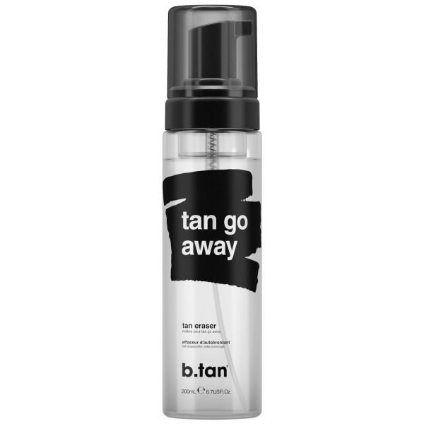 Effaceur d'autobronzant Tan go away b.tan. À retrouver sur beautycoiffure.com.