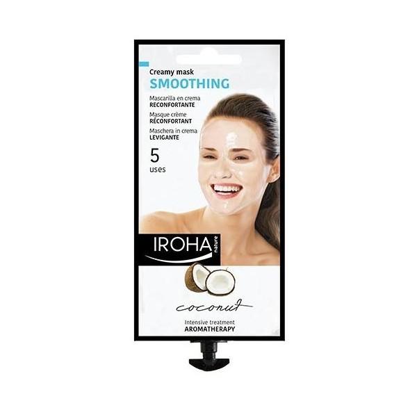 Masque crème peel-off confort à la coco de Iroha, à retrouver sur beautycoiffure.com.
