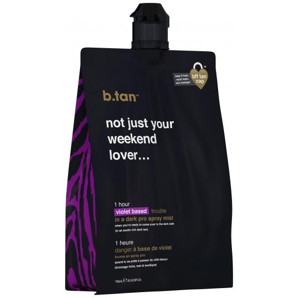 Mousse autobronzante base violet (14,5% DHA) 1H Pro-stay b.tan. À retrouver sur beautycoiffure.com.
