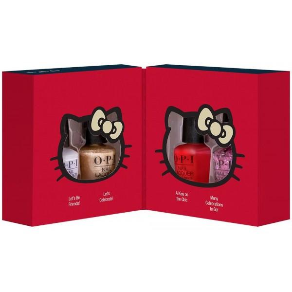 Coffret de 4 mi-vernis OPI collection Hello Kitty, à retrouver sur beautycoiffure.com.