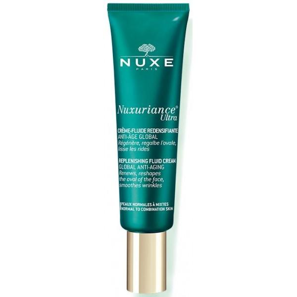 Découvrez le soin visage crème-fluide redensifiante anti-âge de Nuxe, à retrouver sur beautycoiffure.com.